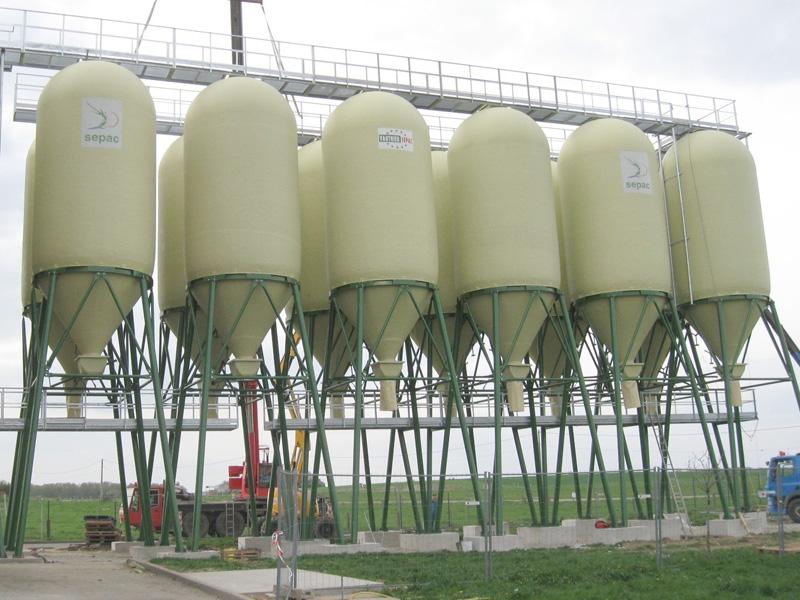 Cintrage de poutrelles UPN (structure de silo)