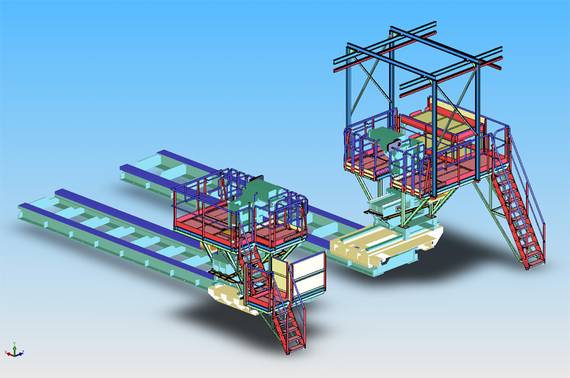 Accès opérateurs sur aléseuse de turbines